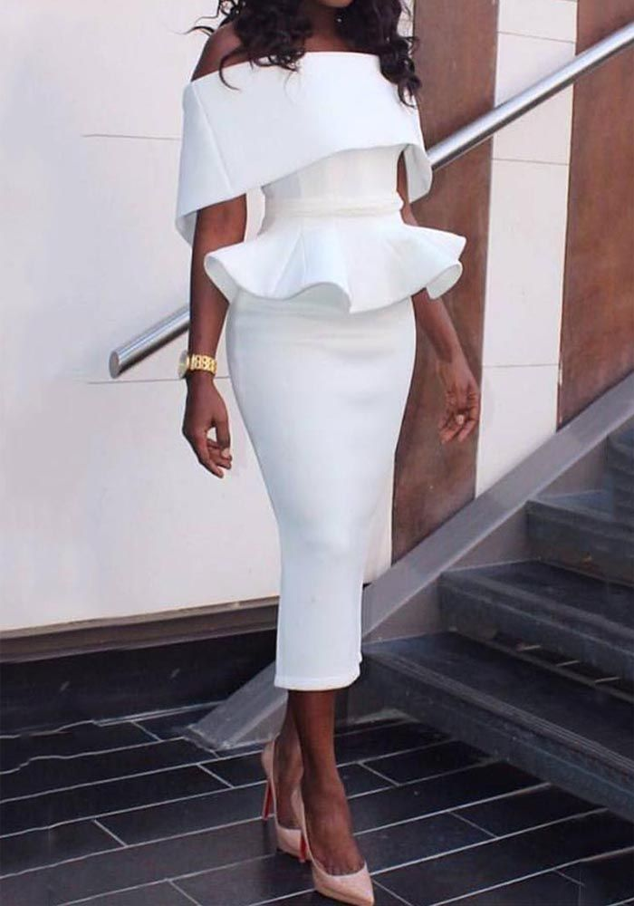 This dress has four colors for your choice, white, black, blue and red. Hardly find any woman who doesn't want a second glance. Can this  super sexy Dresses help you increase the rate? Follow your color, follow your style
