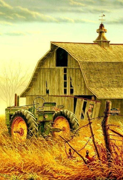 Barn & A John Deere