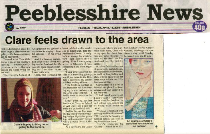 PEEBLESHIRE NEWS, Scotland, 2008
