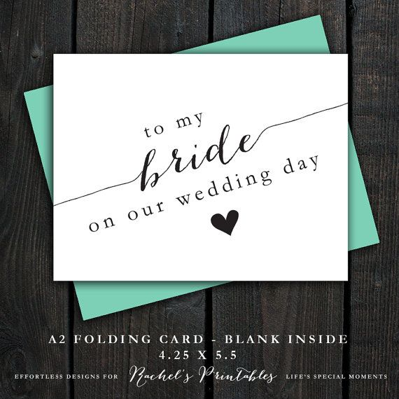 wedding day cards on your wedding day wedding ideas cards diy thank ...
