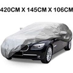 S Size UV Protection Rain Resistant Protective Car Cover- Silver