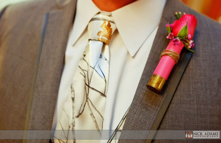 Shotgun shell boutonniere | Nick Adams Photography | Duck Dynasty Inspired Wedding
