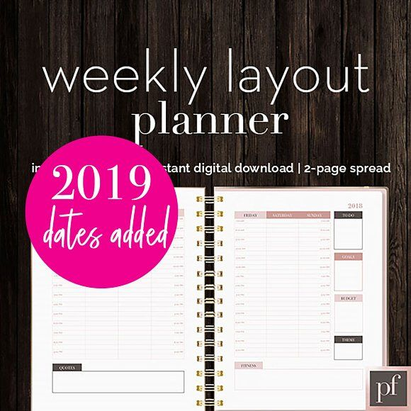 Weekly Calendar InDesign Template by InDesign Templates on