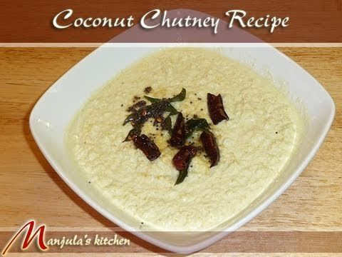 Coconut chutney is a typical condiment that is served with South Indian dishes, especially Idlis and Dosas. In fact, meals in South India are considered incomplete, without this chutney. It has great texture and a unique taste that compliments many dishes.