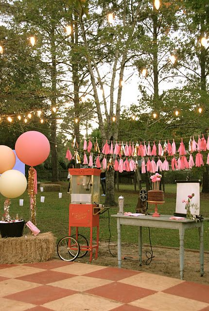 Sparkly 13th Outdoor Movie Party {13th Birthday Party Ideas}