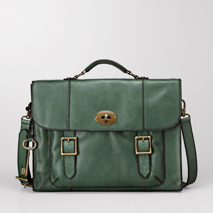 Sage Fossil Messenger Bag (Perfect for school.)