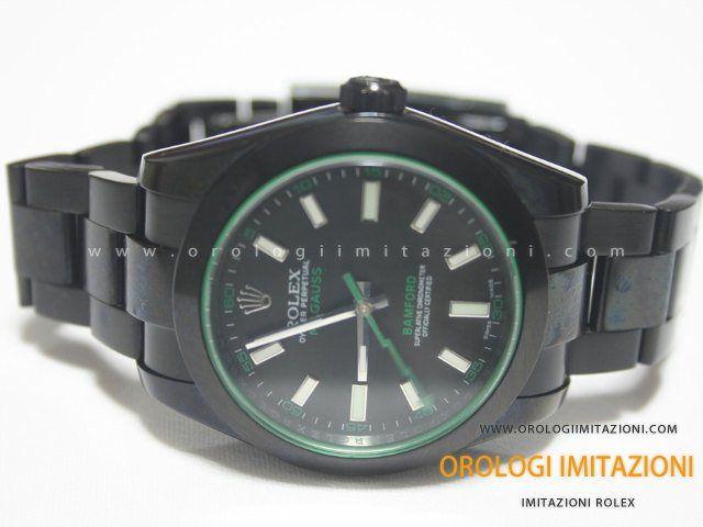Acquista il Rolex Milgauss Imitazione Bamford Pvd Nerocon movimento cinese qualità grado AAA. La migliore qualità per i Rolex Milgauss Cinesi.