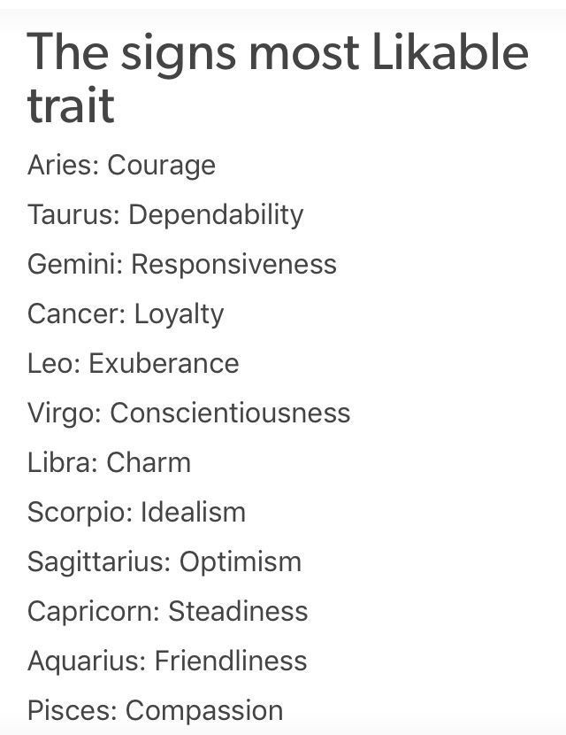 The zodiac signs most LIKEABLE trait! #astrology #zodiac