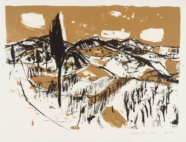 Elizabeth Blackadder 'Italian Landscape', 1960 © Elizabeth Blackadder