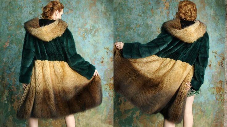 """Купить """"Фишер и норка и вышивка"""" шуба - шуба, женская одежда, шуба 2013, шуба 2014"""