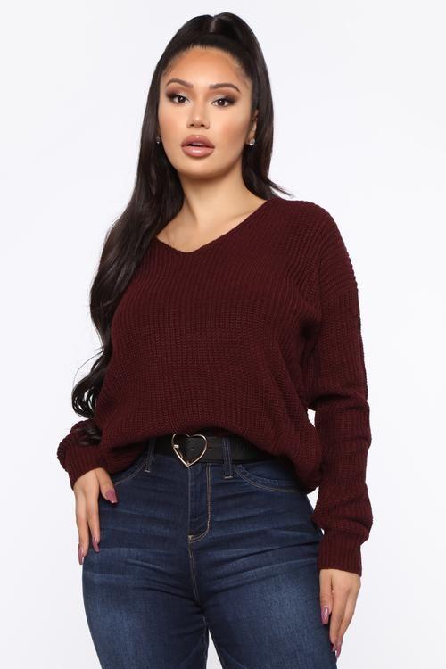 Falls Favorite Girl Sweater II - Plum