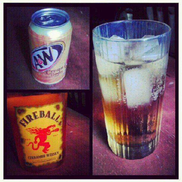 Cinnamon Bun.. Cream Soda & Fireball whiskey! Oh man, if I drank, this sounds amaze-balls. Is there a Virgin Fireball out there?