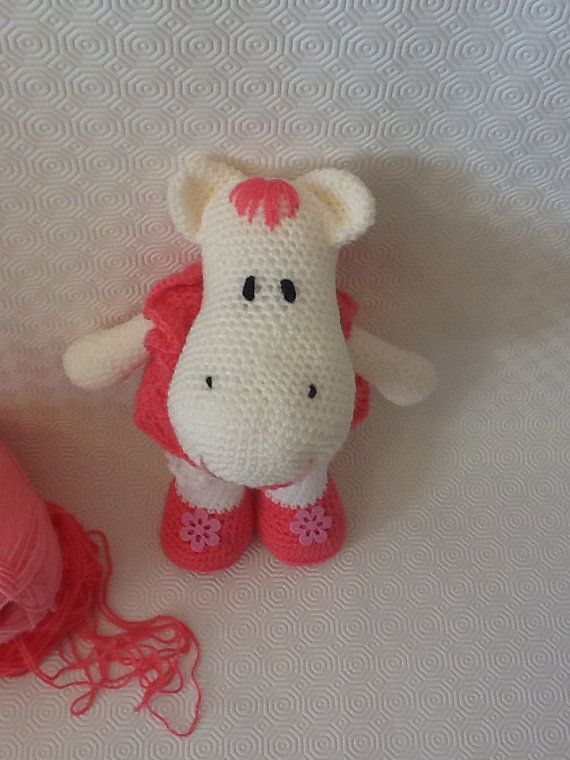 Amigurumi doll hippo by EvalestAmigurumi on Etsy
