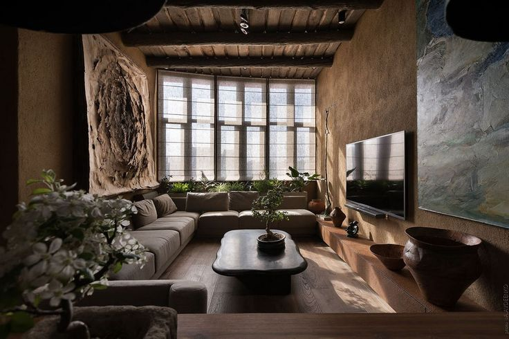 The Wabi Sabi Apartment by Sergey Makhno in Kiev, Ukraine