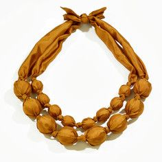 Silk Necklace Mustard, $32, now featured on Fab.
