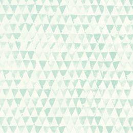 Eijffinger Tout Petit #behang. Retro - Scandinavische trend. Grafische driehoekjes. Meer zien? http://www.verfenwand.nl/assortiment/behang/voor-de-kinderkamer/eijffinger-tout-petit