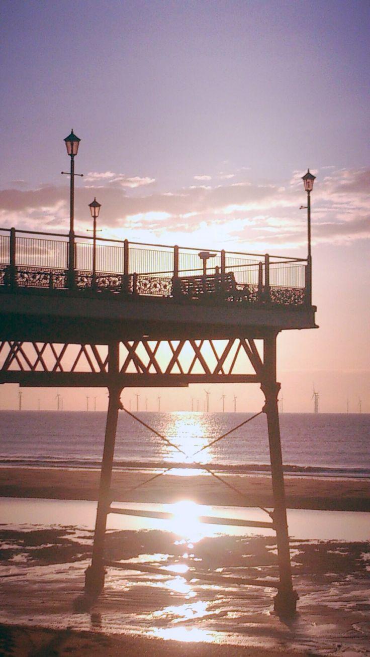 Sunrise at Skegness pier