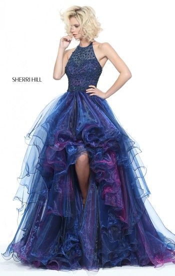Blue dress with touch of purple.        Spring 2017 - SHERRI HILL