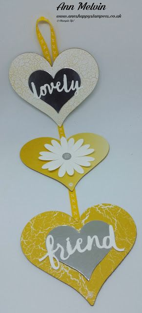Ann's Happy Stampers: #7 New Catalogue Week, Beautiful Hanging Heart Dec...
