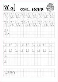 Schede didattiche prescrittura in corsivo pagina 2|Lamammacreativa