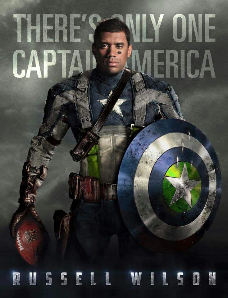 I don't believe there is only one Capt. America, I do believe in Russell Wilson. And this picture is awesome. -pr