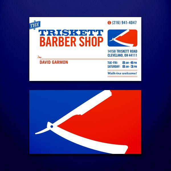 28 best barber business card inspiration images on pinterest triskett barber shop business cards by craig minch via behance colourmoves