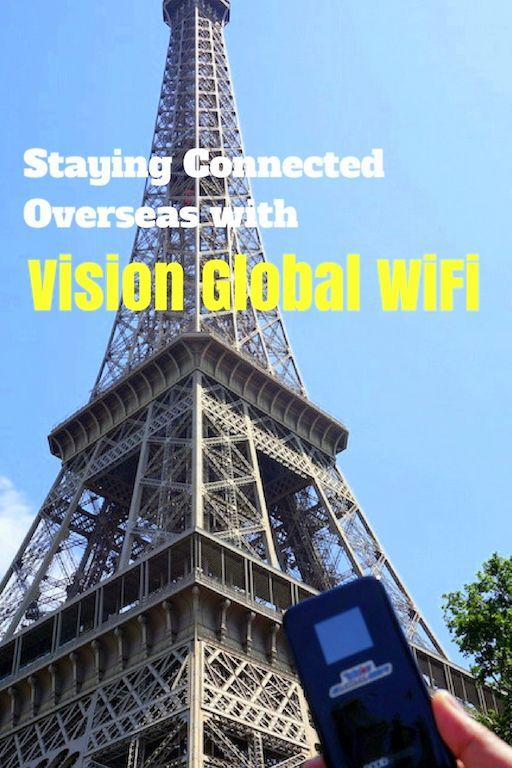 How to stay connected while traveling overseas with Vision Global Wifi mobile hotspot - a review of the product.