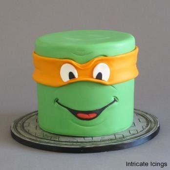 Ninja Turtle cake by Intricate Icings
