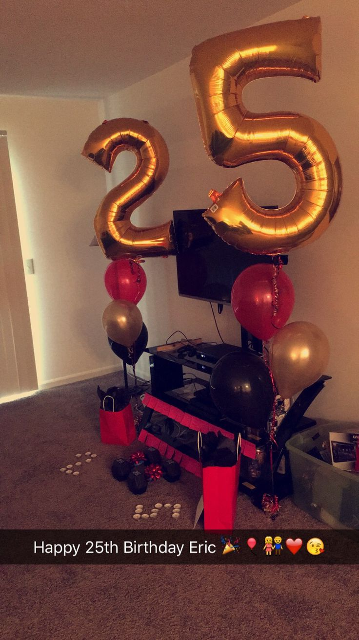 25th Birthday Surprise For Him