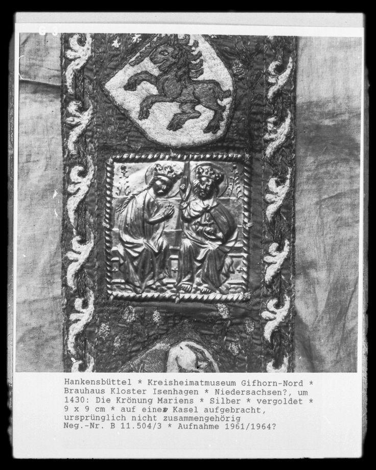 Die Krönung Mariens, Niedersachsen?, um 1430, Hankensbüttel, Kreisheimatmuseum Gifhorn-Nord, Brauhaus Kloster Isenhagen —   Foto Marburg,  Aufnahme-Nr. B 11.504/3;; Aufn.-Datum: 1961/1964?;