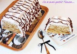 Tort de piscoturi cu crema de vanilie