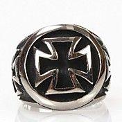 Mænds Personlighed Cross titanium stålring – DKK kr. 84