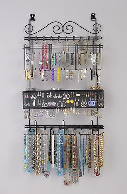Longstem 6100 Over The Door Wall Jewelry Organizer Valet