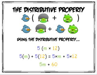 free product distributive property angry birds math