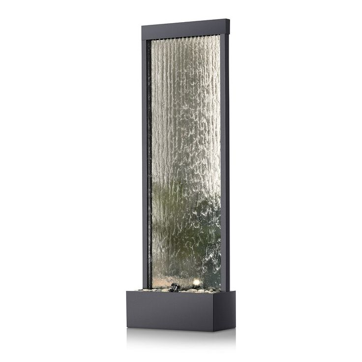 Metal Mirror Waterfall Fountain With Light In 2020 Waterfall Fountain Metal Mirror Waterfall