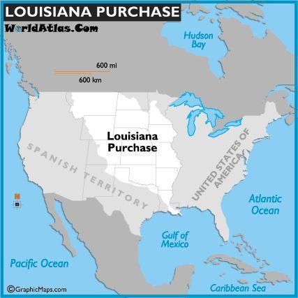 Map Of The Louisiana Purchase Louisiana Purchasesocial Sciencesocial Studieswestward Expansionthomas Jeffersonamerican