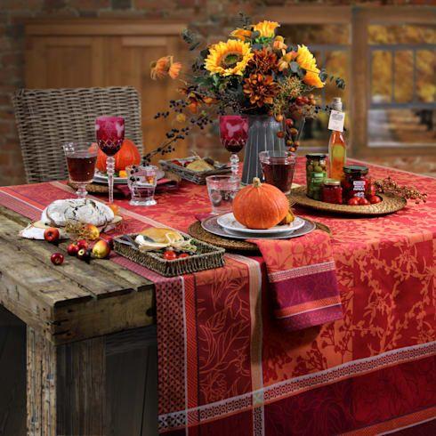 decoración mesa otoño