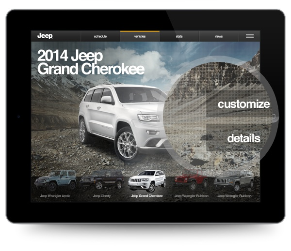 Jeep Sales App by Particle Interactive , via Behance