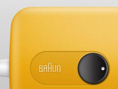 Plastic, yellow, button
