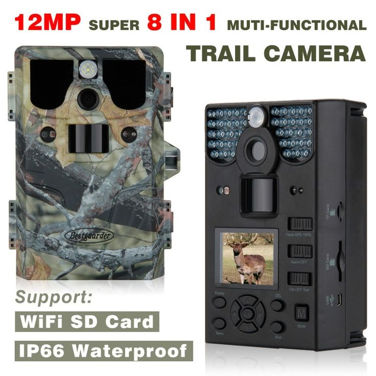 131.75$  Buy now - http://alijxf.worldwells.pw/go.php?t=32722144993 - New WIFI SD Card 12mp 44pcs LED Infrared scouting camera Night Vision hunting camera traps wildlife Trail cameras detection 85ft