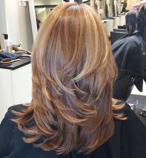 17 mejores ideas sobre cabello en capas en pinterest - Ideas para peinar cabello largo ...