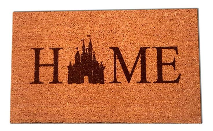 Nothing Says Welcome Home like a Disney Castle Home Welcome Mat