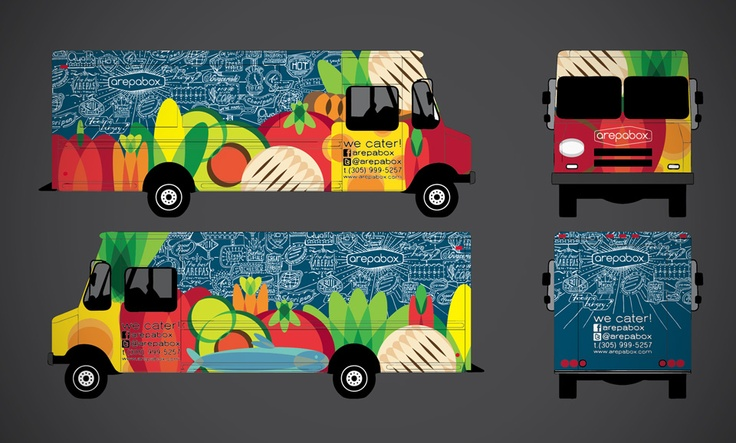 Arepabox food truck lorbus design food truck project for Design food truck online