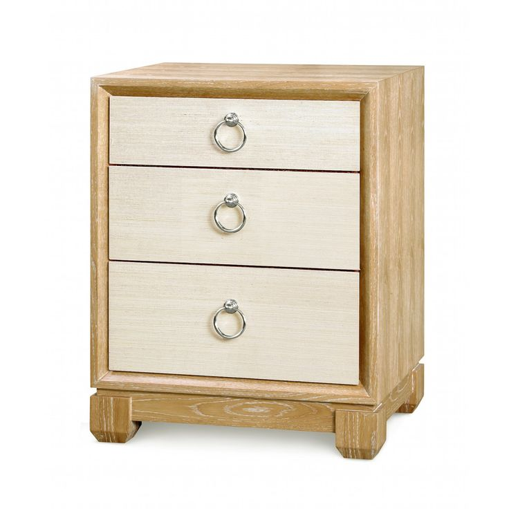 Calvin 3-Drawer Side Table, Natural - Bungalow 5