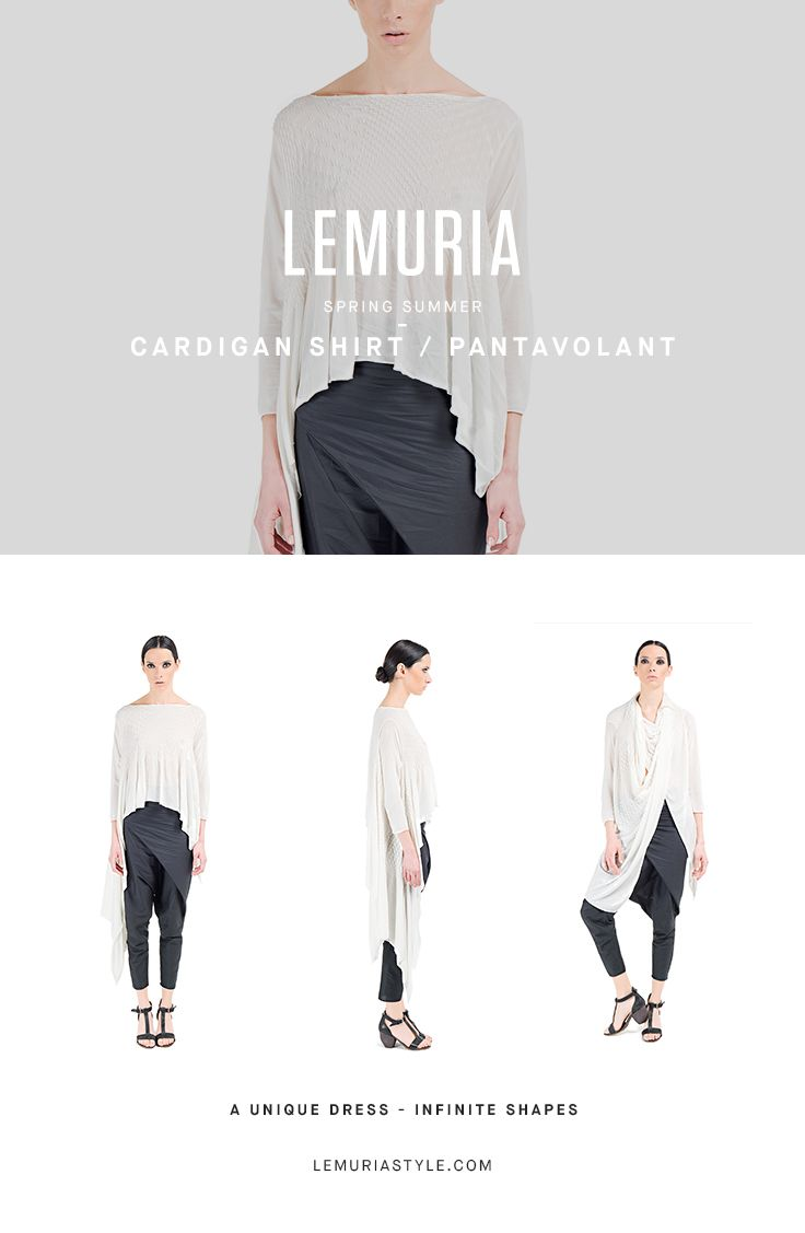 Cardigan in cotton and cachemire textured fabric. #woman #clothing #multifunctional #dress #italy #brand #designclothing #design #italianbrand #boutique #cotton #jersey #lemuria #ss16 #collection #dress #overall #convertible #convertibledress #lemuria #lemuriaclothing #lemuriastyle