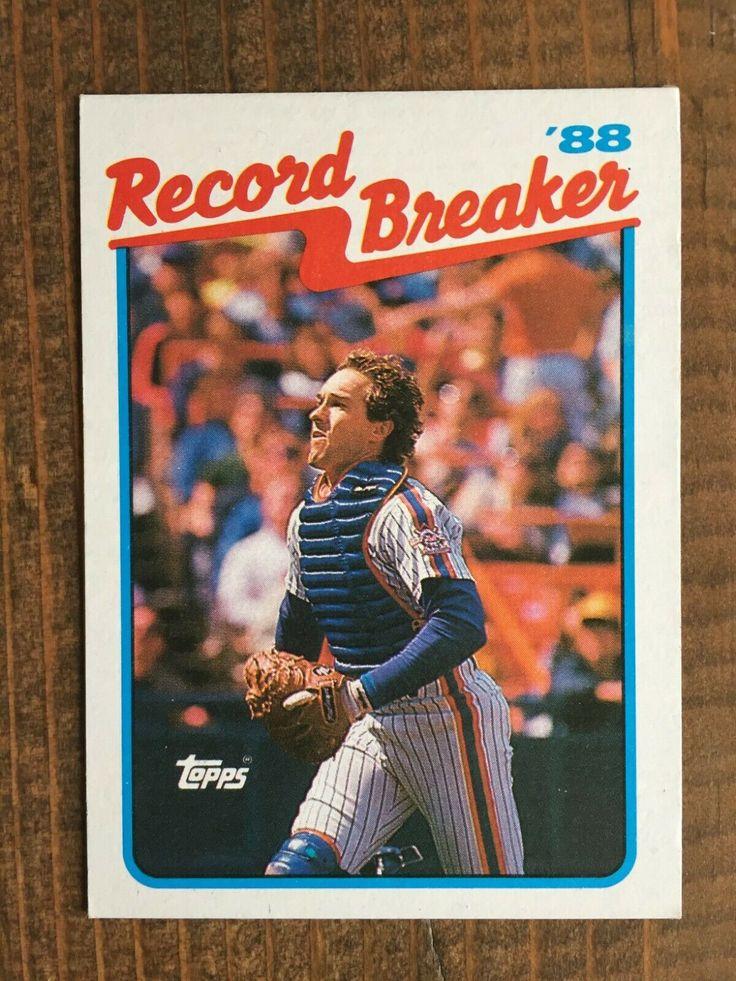 1989 topps 3 gary carter n y mets record breaker for