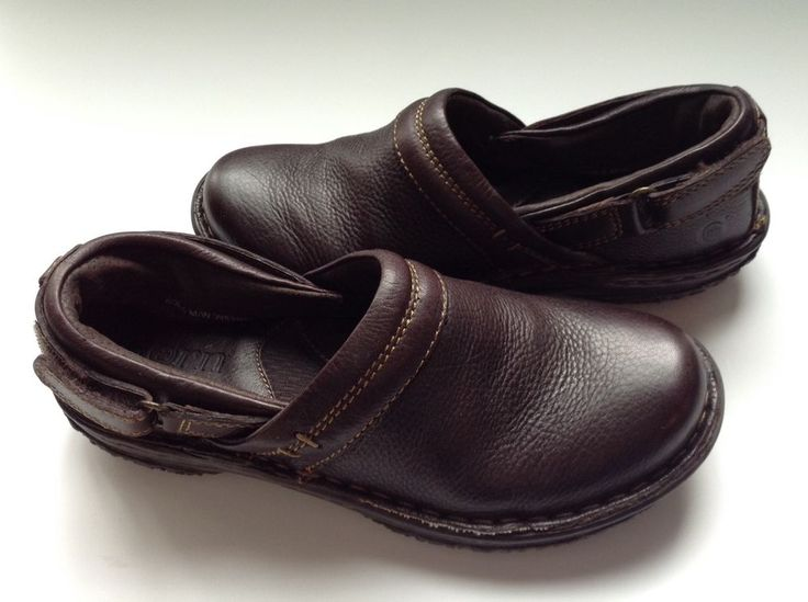 Born Lina Dark Brown Grain LeatherSlip-on Casual Loafers shoes Sz 6 MSRP $99.99 #Born #LoafersMoccasins #CasualWorkWalk