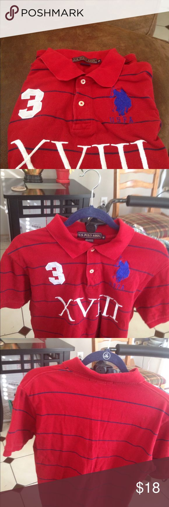 US Polo Assn pullover Red polo pullover, sharp clean short sleeves M U.S. Polo Assn. Shirts Polos