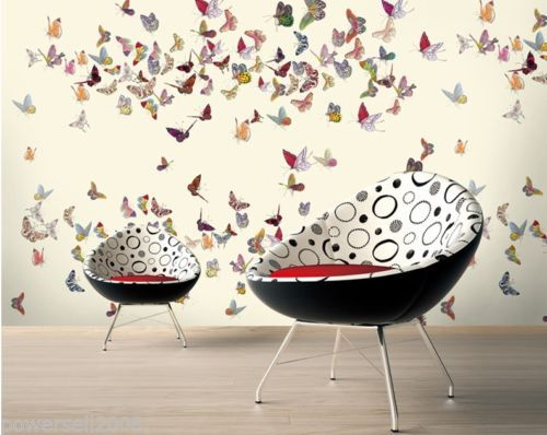 Modern Simple Style Murals TV Background Bedroom Printing Butterfly Wallpaper