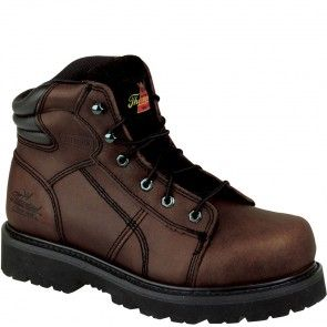 804-4650 Thorogood Men's Lace-To-Toe Safety Boots - Brown www.bootbay.com